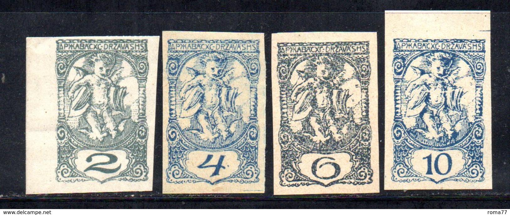 1011 490 - YUGOSLAVIA 1919 . Giornali Serie Unificato N. 10/12  Linguellata  * , - 1919-1929 Regno Dei Serbi, Croati E Sloveni