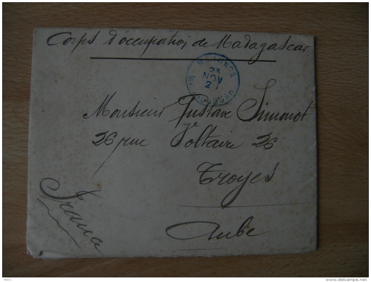 1903 Regiment Colonial Ancre Maribe  Corps Occupation Madagascar  De Majinga - 1877-1920: Semi Modern Period
