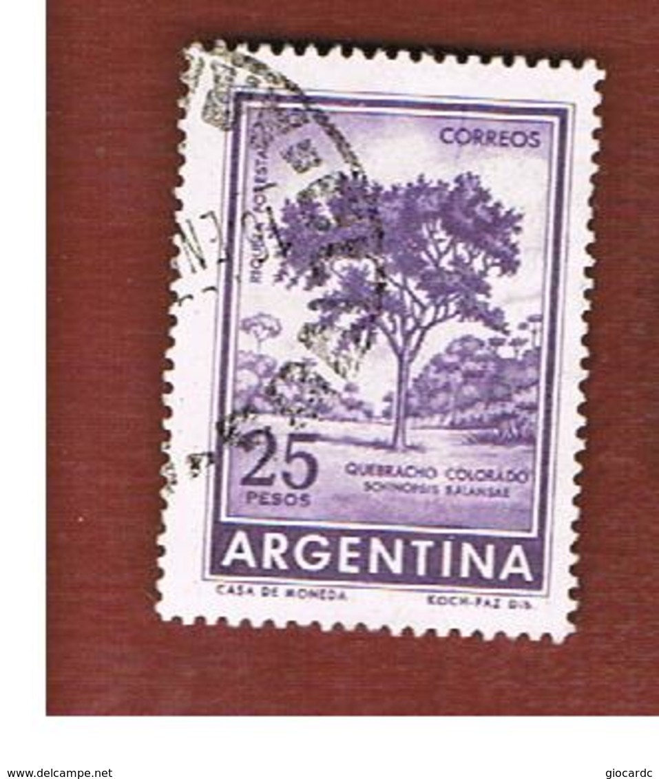 ARGENTINA - SG 1020  - 1959 RED QUEBRACO TREE        -   USED ° - Argentina