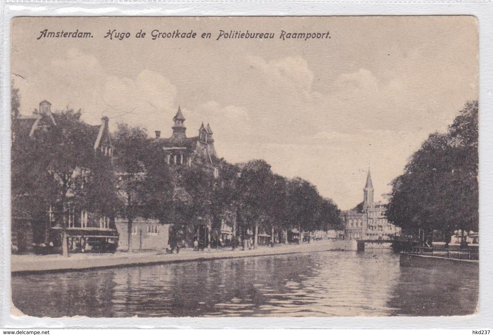 Amsterdam Hugo De Grootkade Met Raamkerk En Politiebureau Raampoort    1331 - Amsterdam