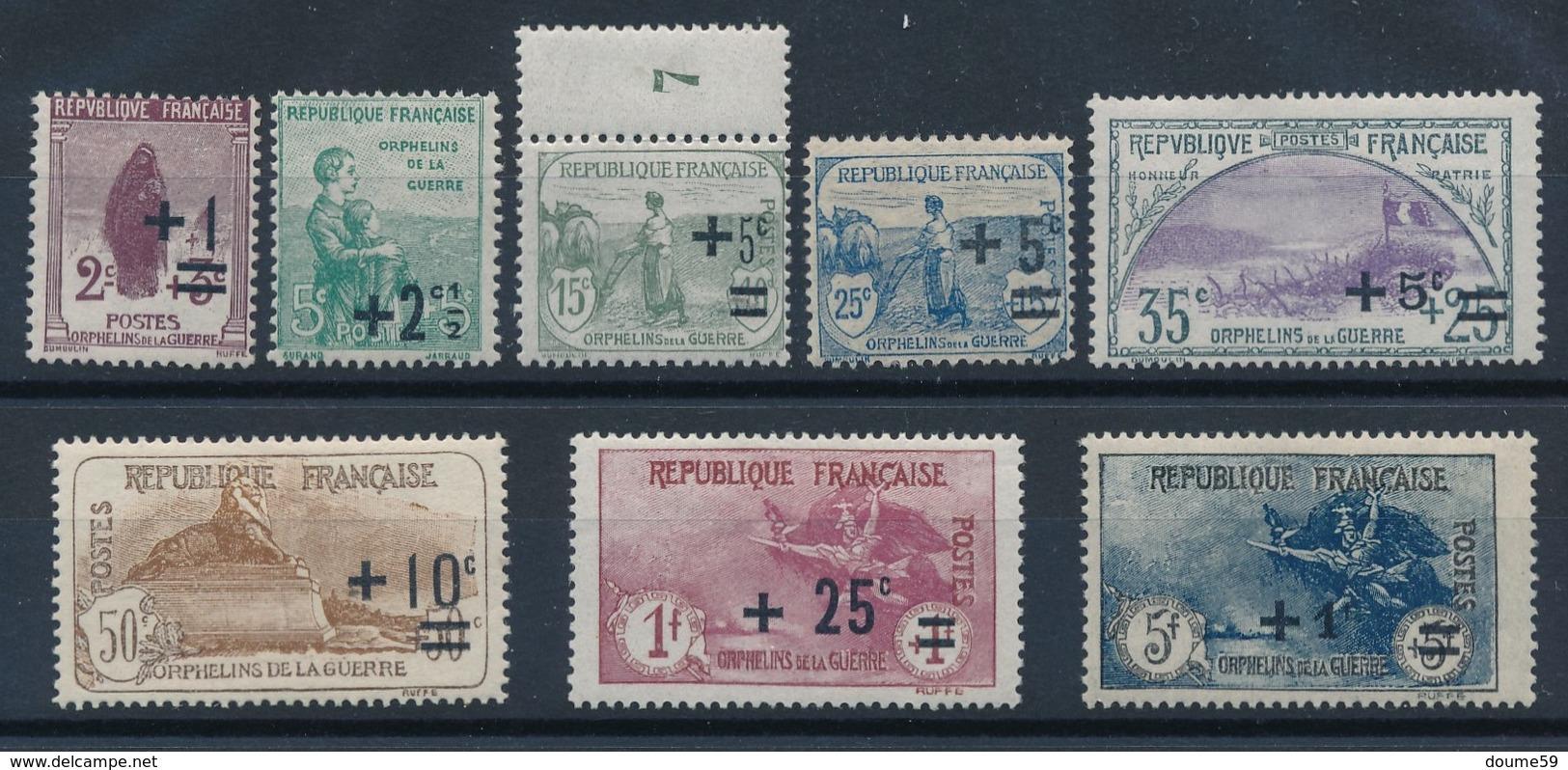 "CF-32: FRANCE: Lot  ""Orphelins ""  Neufs* 162/169 - France"