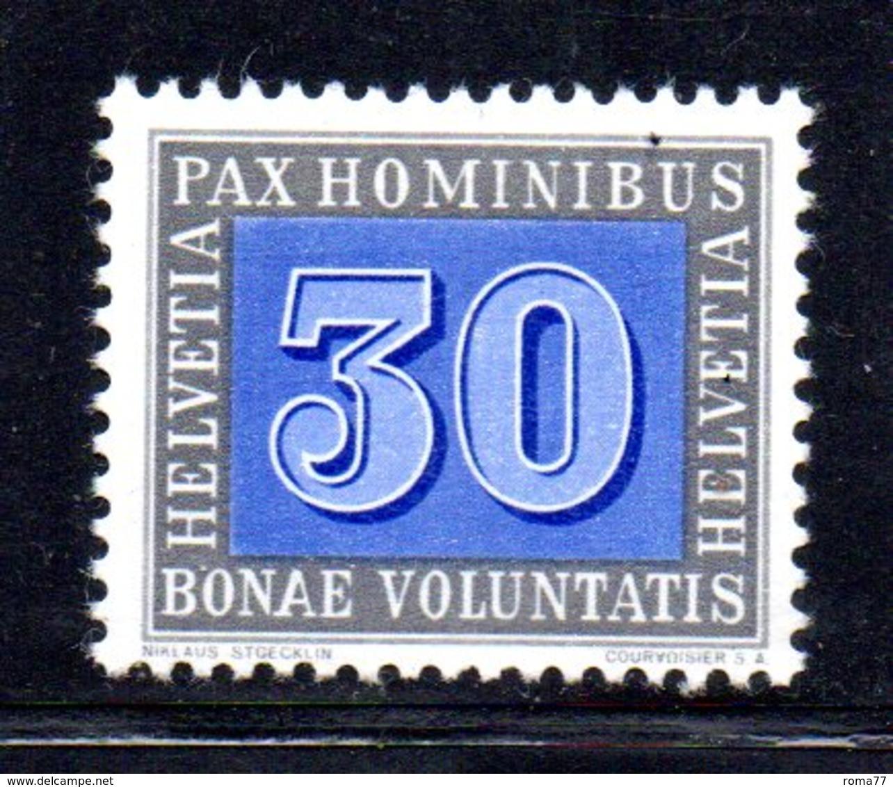 44/1500 - SVIZZERA 1946 PACE PAX : 30 Cent N. 408 *** MNH - Svizzera