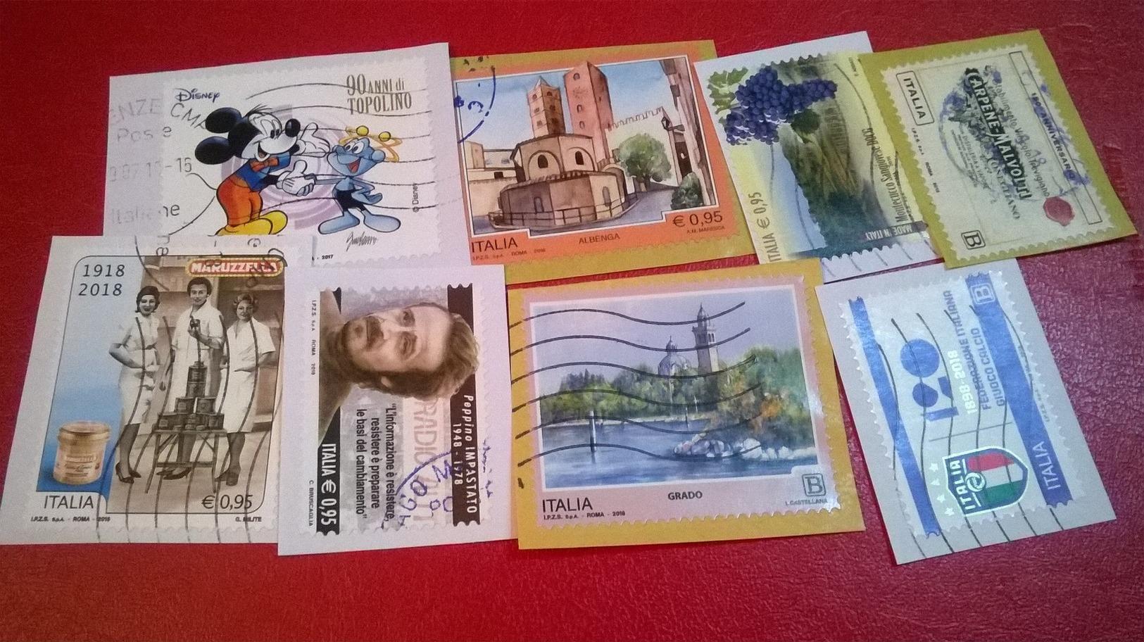 LOTTO ITALIA REPUBBLICA ANNI 2015 2016 2017 2018 USATA EURO  B2 - 6. 1946-.. Repubblica
