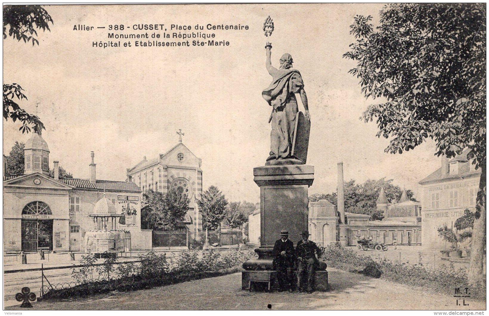 195 - Cpa 03  Cusset , Place Du Centenaire - Frankrijk