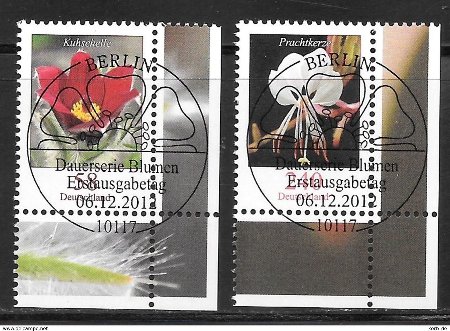 BRD 2012 / MiNr.   2968 - 2969  Rechts Unten Ecken Mit Ersttagsstempel  O / Used  (d857) - BRD