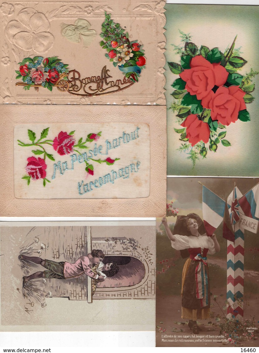 LOT DE 650 CARTES POSTALES FANTAISIE - Cartes Postales