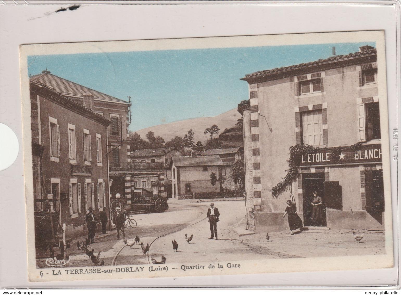 France Carte Postale Avec Cachet FFI Saint Chamond Du 18 09 1944 (cp Terrasse Sur Dolrlay ) - Postmark Collection (Covers)