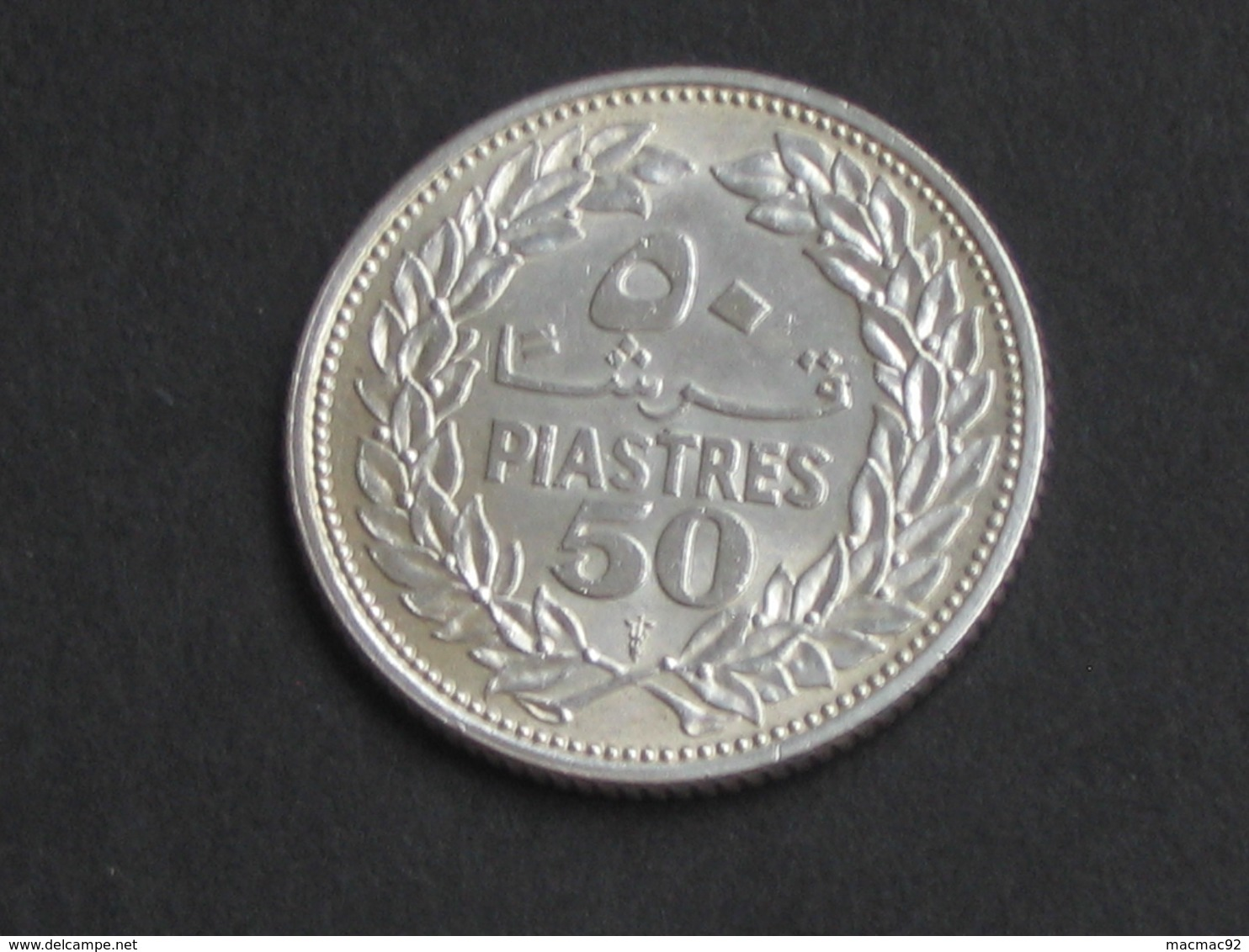 LIBAN - 50 Piastres 1952 - Argent - Silver  **** EN ACHAT IMMEDIAT **** Monnaie Quasi SPL !!!!! - Liban