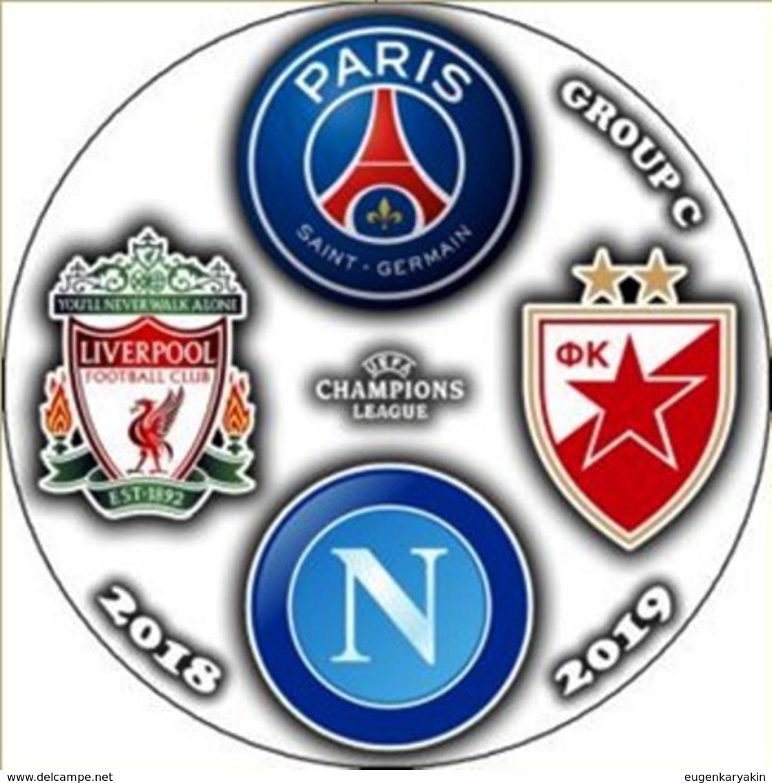 Pin Champions League 2018-2019 Group C Paris Saint-Germain Liverpool Napoli Crvena Zvezda - Fussball