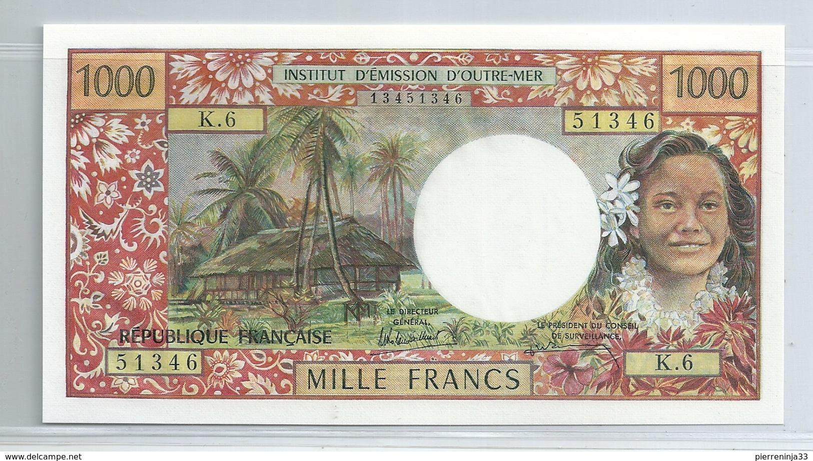 Billet  Caisse Centrale De La France D'Outre-Mer,  Papeete , Polynésie , 1000 F - France
