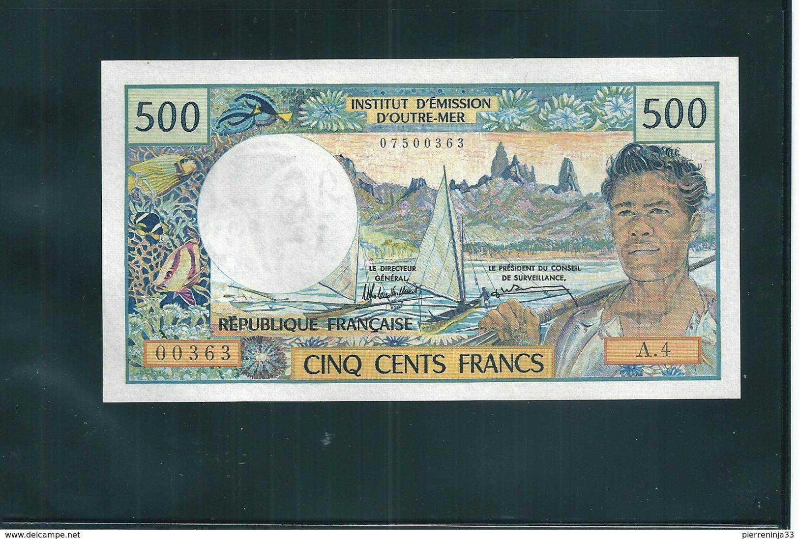 Billet  Caisse Centrale De La France D'Outre-Mer,  Papeete , Polynésie , 500 F - France