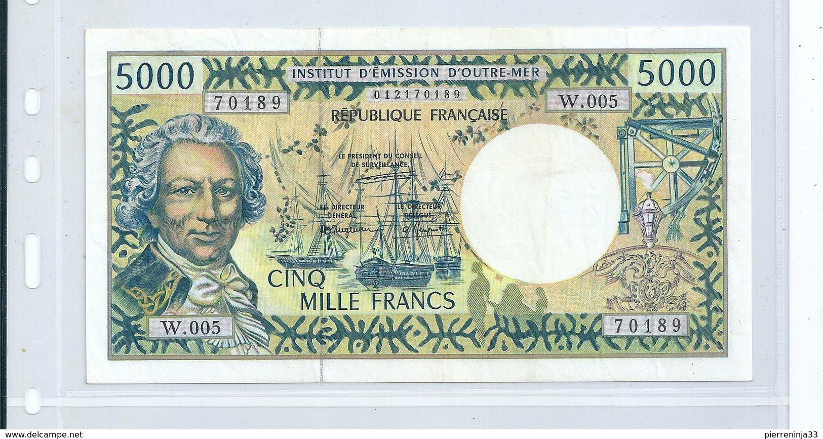 Billet  Caisse Centrale De La France D'Outre-Mer , 5000 F - France