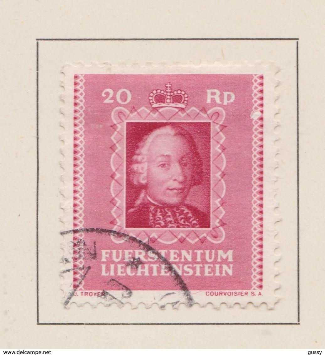 LIECHTENSTEIN 1942:   Timbre Oblitéré,    TTB - Liechtenstein