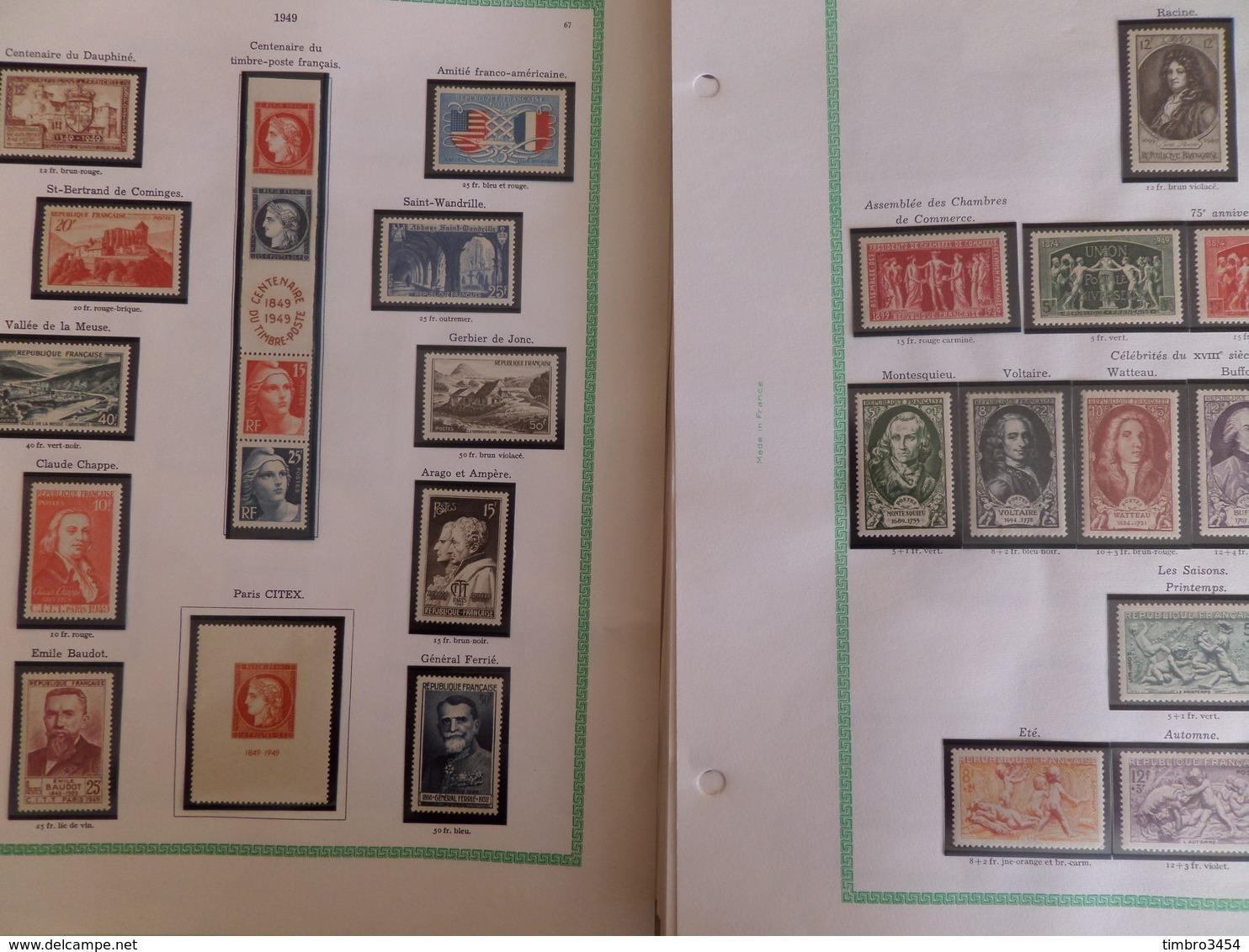 France Très Belle Collection Complète Neufs ** MNH 1942/1969. Forte Cote, Superbe Qualité. A Saisir! - France