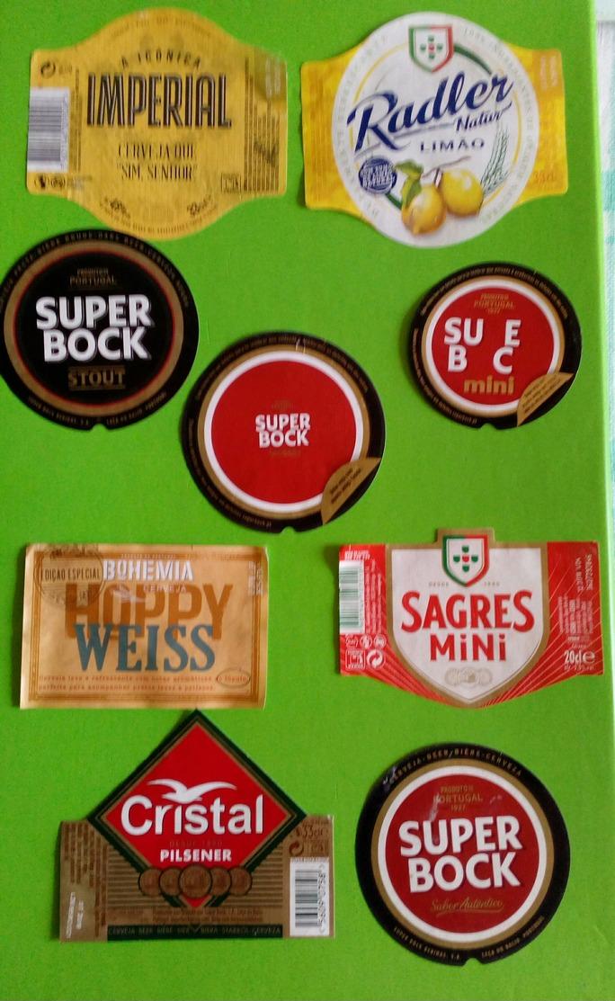 9 Beer Labels,beer Portugal - Bier
