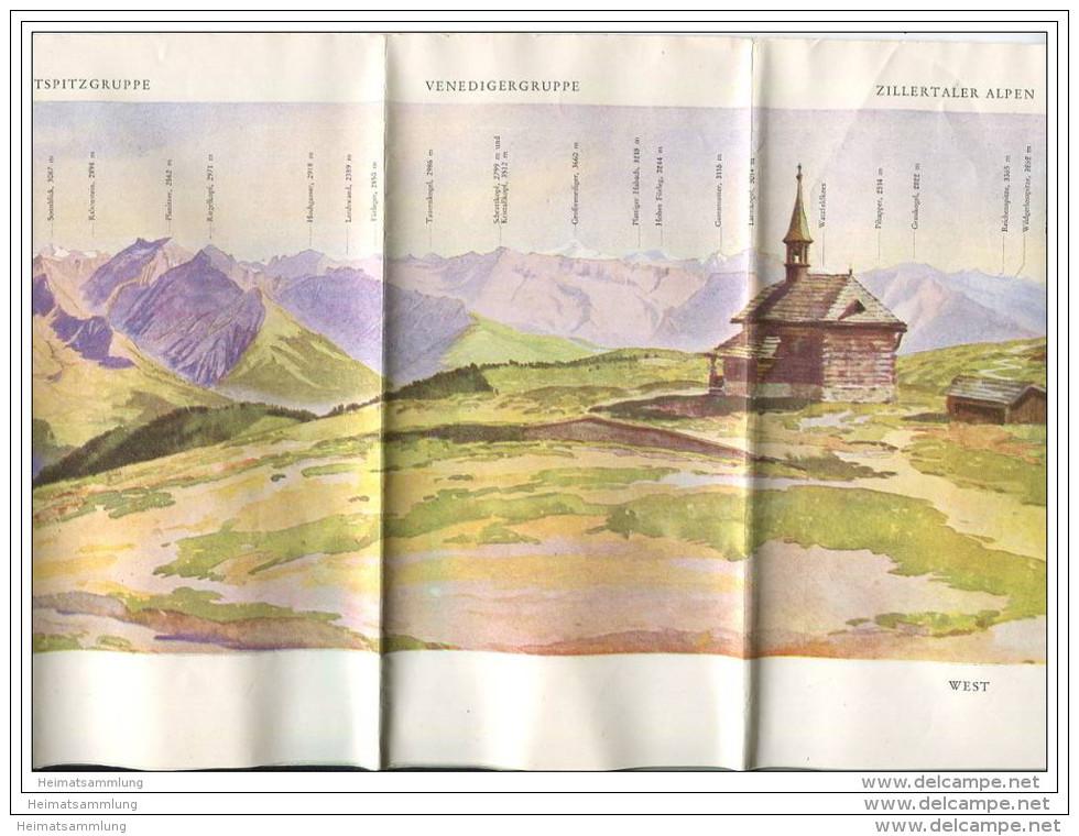 Schmittenhöhe 30er Jahre - Faltblatt Panorama Rundblick 21cm X 128cm Signiert Reichel - Eigenverlag Schmittenhöhebahn - Oesterreich