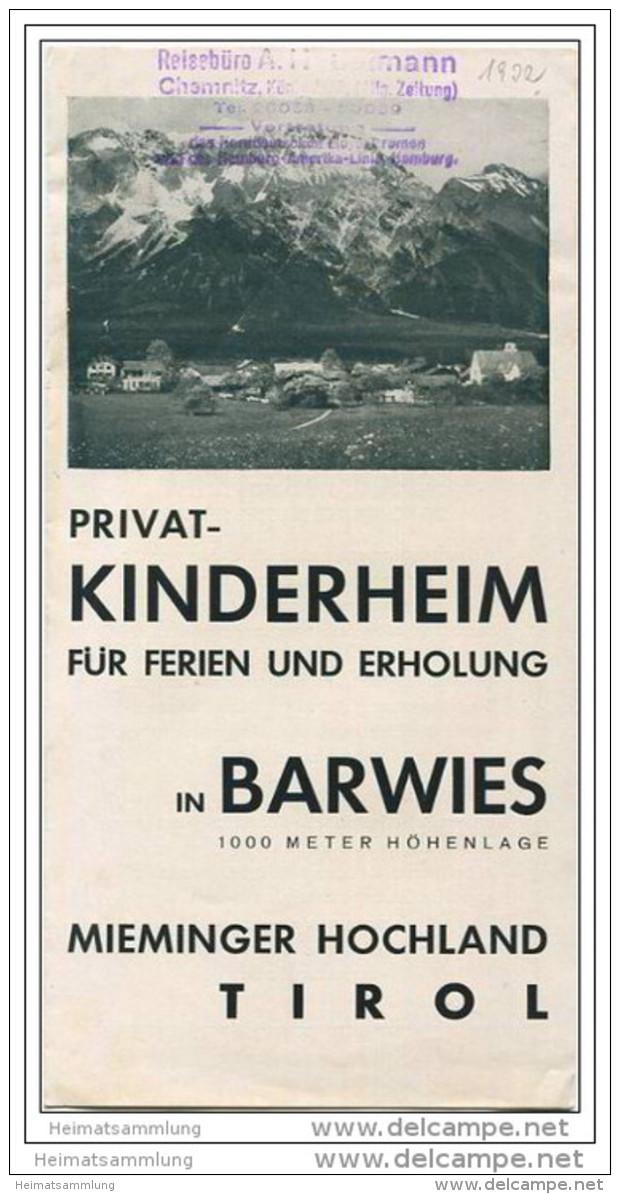 Barwies - Privat-Kinderheim - Faltblatt Mit 2 Abbildungen - Oesterreich