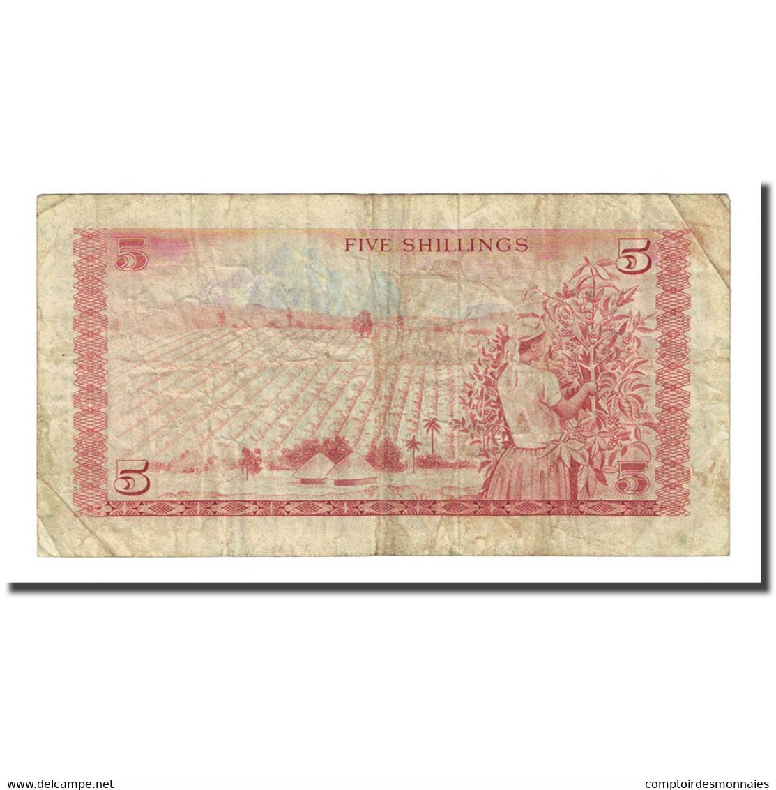 Billet, Kenya, 5 Shillings, 1975-01-01, KM:11b, B+ - Kenya