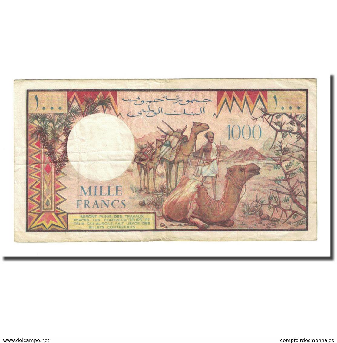 Billet, Djibouti, 1000 Francs, Undated (1979), KM:37a, TTB - Djibouti