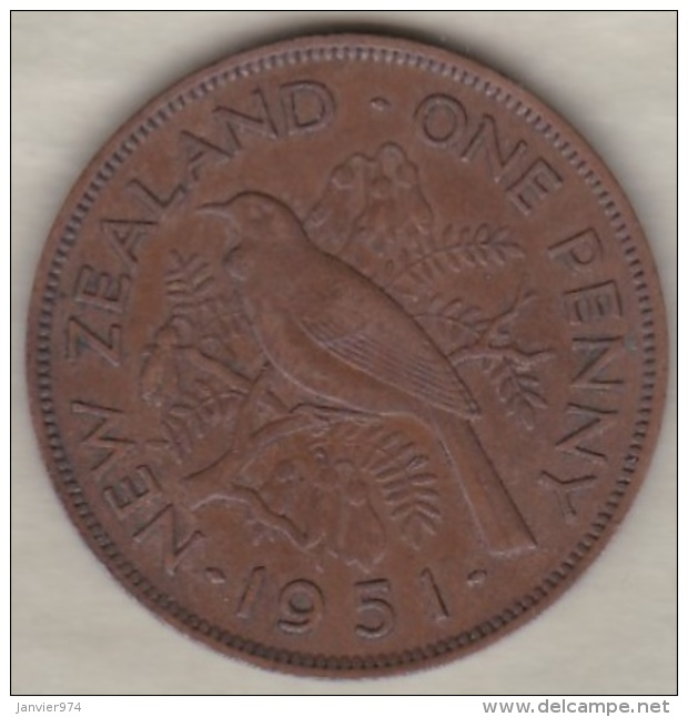 NEW ZEALAND . ONE PENNY  1951. GEORGE VI - Nouvelle-Zélande