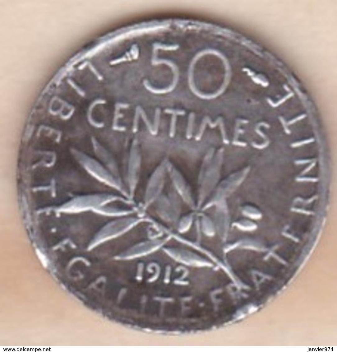 50 Centimes Semeuse 1912, En Argent - France