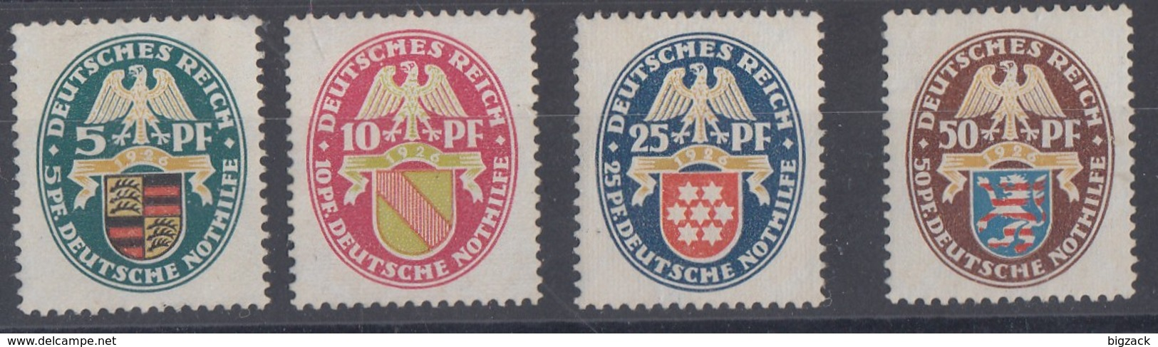 DR Minr.398-401 Mit Falz - Deutschland