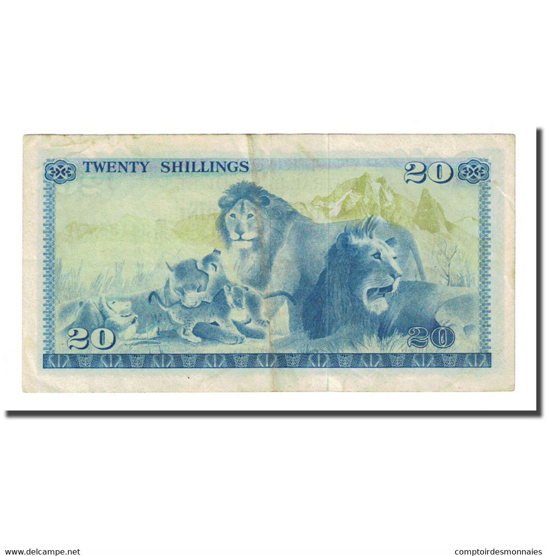 Billet, Kenya, 20 Shillings, 1975-01-01, KM:13b, TTB - Kenya