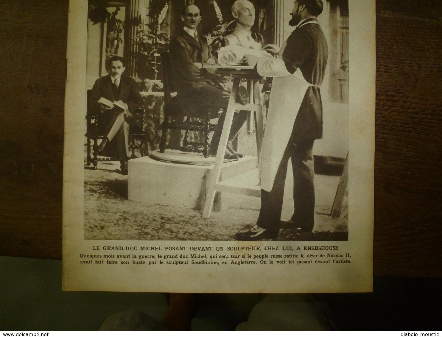 1917 LE MIROIR:Grd Duc Michel à Knebshouse;Roye,Bapaume,Noyon;Tirailleurs Du Pacifique à Nouméa;Marie De Roumanie;etc - Revues & Journaux