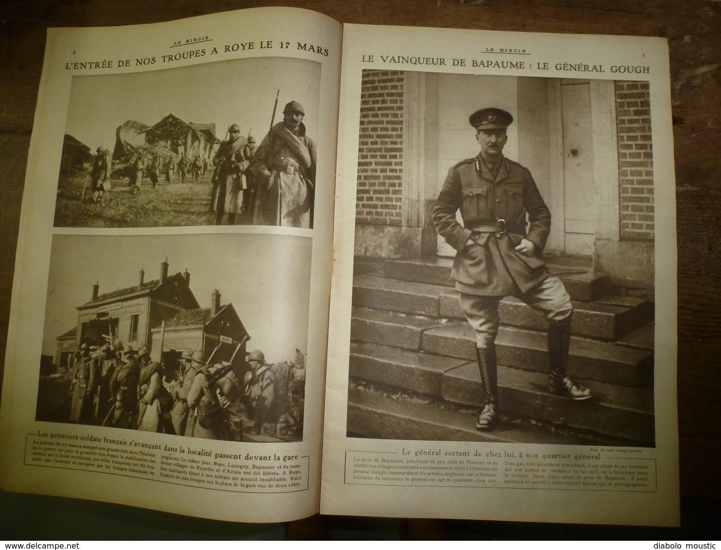 1917 LE MIROIR:Grd Duc Michel à Knebshouse;Roye,Bapaume,Noyon;Tirailleurs Du Pacifique à Nouméa;Marie De Roumanie;etc - Français