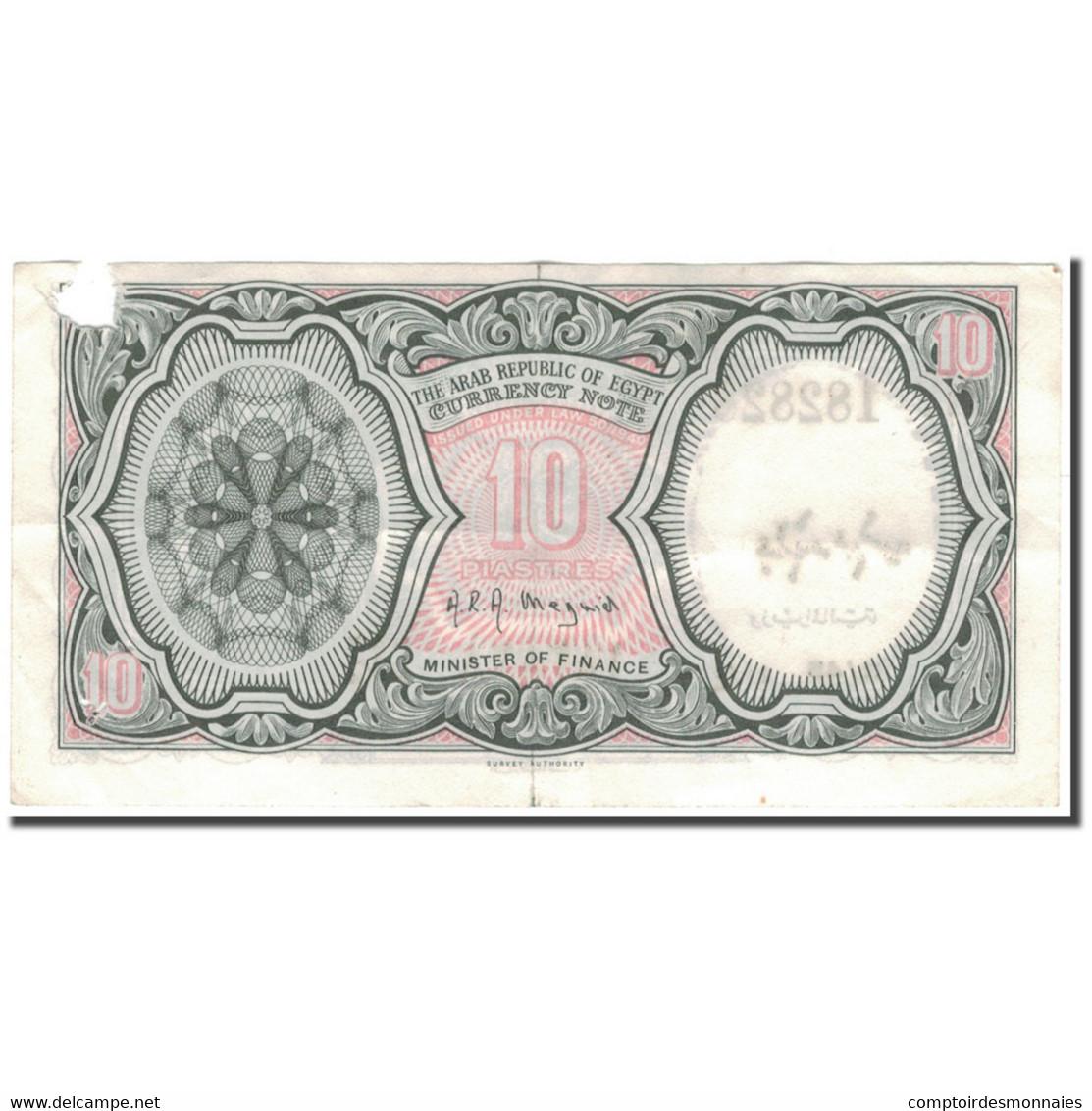 Billet, Égypte, 10 Piastres, Undated (1958-1970), KM:177c, TB - Egypte