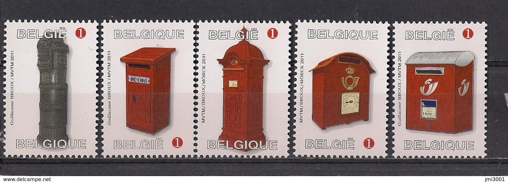 Belgique 2011 COB 4130/34 XX  Boites Aux Lettres - Belgium