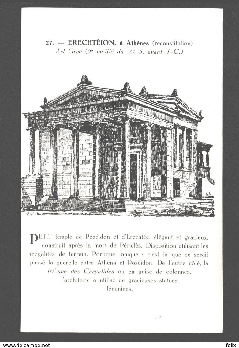 Athens - Erechteion à Athènes - Art Grec - Ed. Pochettes D'Art, P. Montfort - Monuments