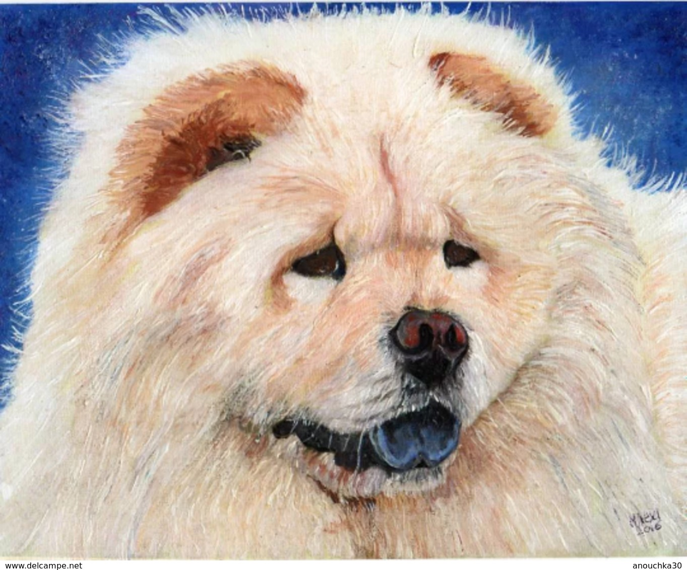 PEINTURE ACRYLIQUE SIGNEE MAEXI CHOW CHOW - Acryliques