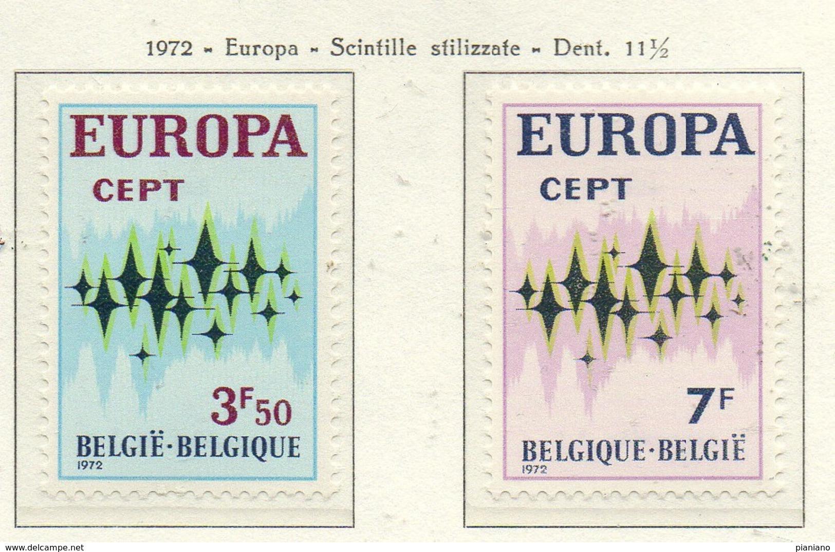 PIA - BELGIO - 1972 : Europa - (Yv 1623-24) - Europa-CEPT