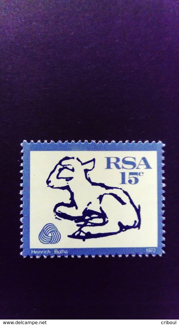 Afrique Du Sud RSA 1972 Animal Agneau Lamb Filigrane Wmk RSA Yvert 336 ** MNH - Südafrika (1961-...)