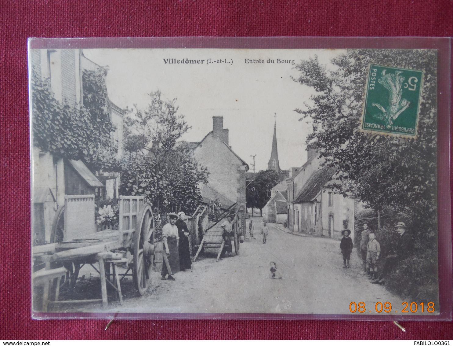 CPA - Villedômer - Entrée Du Bourg - Sonstige Gemeinden