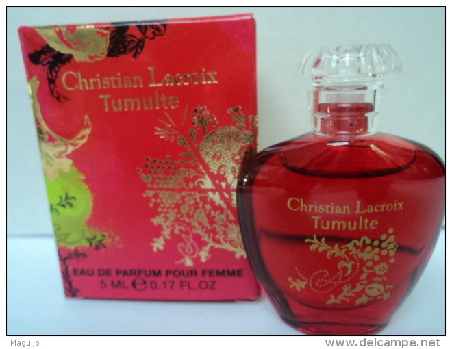 """CHRISTIAN LACROIX """" TUMULTE """" MINI  EDP  5  ML  LIRE  ET VOIR !! - Miniatures Womens' Fragrances (in Box)"""
