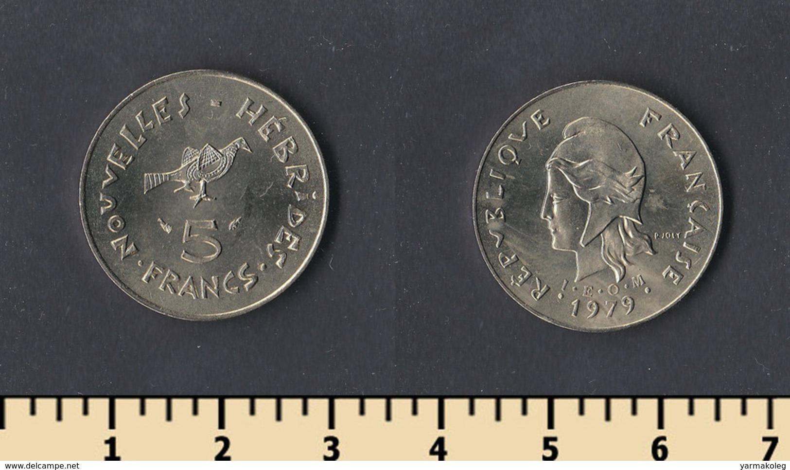 New Hebrides 5 Francs 1979 - Monnaies