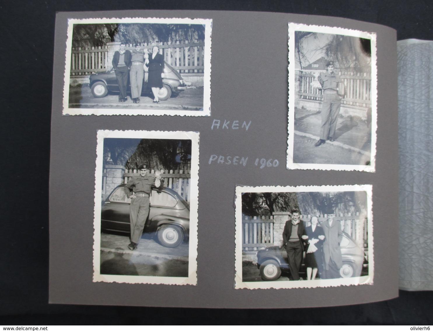 ALBUM PHOTO (M1814) 150 PHOTOS BELGIQUE (46 Vues) Voitures, Moto, Retie, Averbode, Retie, Aken, Huizingen - Albums & Collections