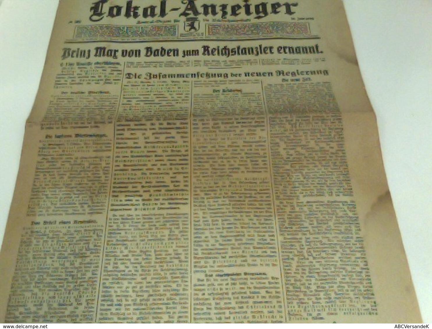 Berliner Lokal-Anzeiger Zentral-Organ Für Die Reichshauptstadt Nr. 507 (Freitag, 4. Oktober 1918)  Morgenausga - Books, Magazines, Comics