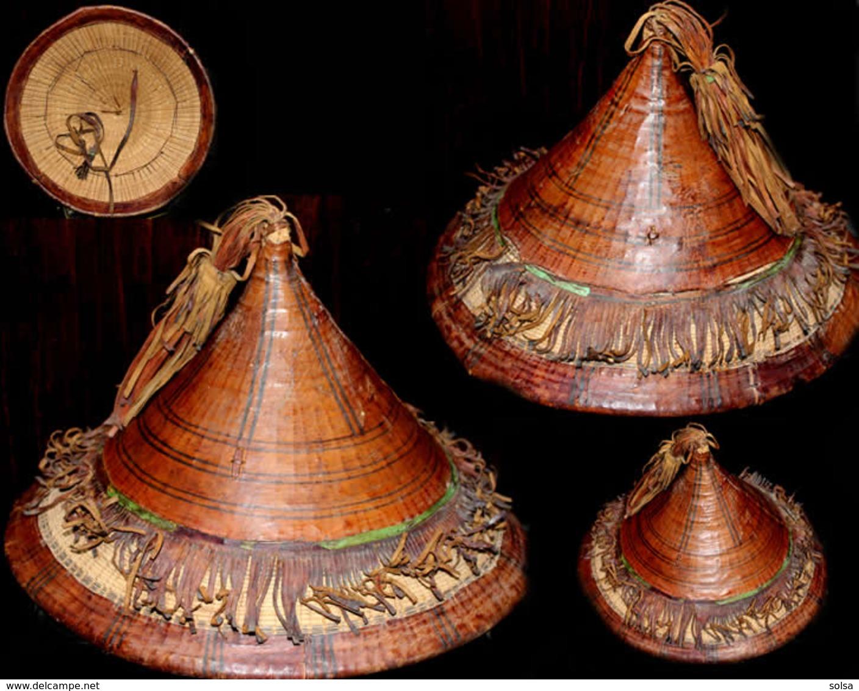 Ancien Chapeau Ancienne Coiffe De Guerrier Touareg / Old African Headress Tuareg Hat - Art Africain