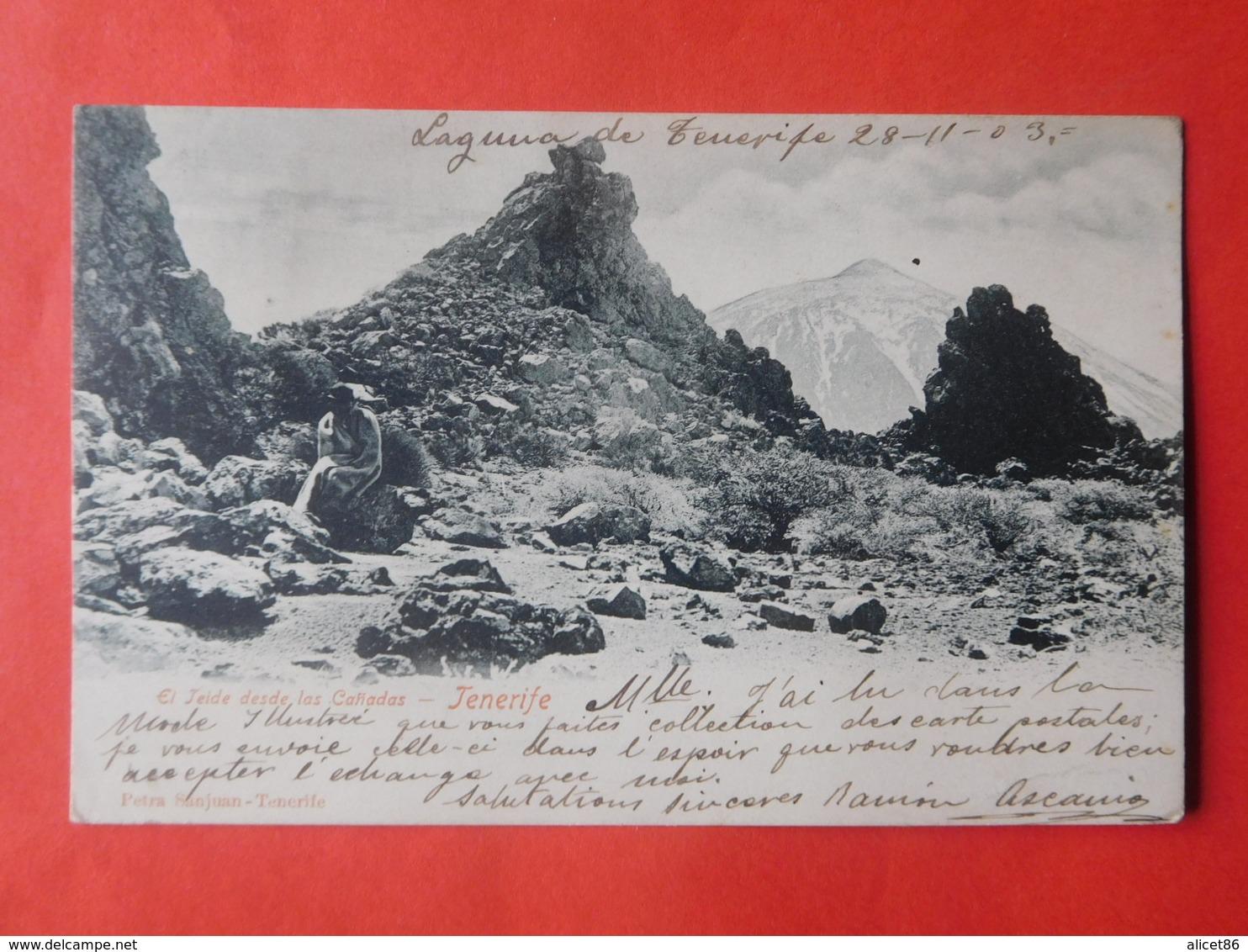 Tenerife 1903 El Jeide Desde Las Canadas / Laguna - Tenerife