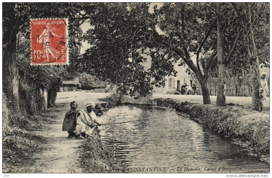 B 9298 - Algérie        Constantine        Le  Hamma       Canal D'Irrigation - Constantine