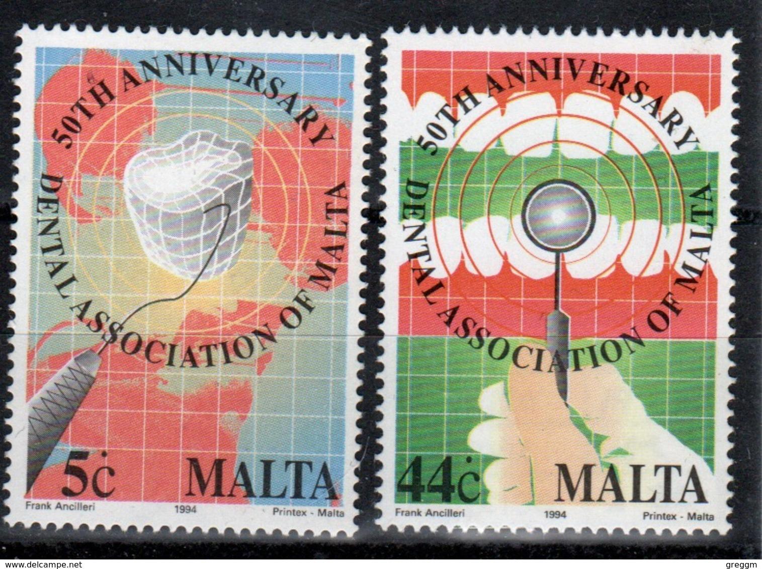 Malta 1991 Set Of Stamps To Celebrate 50th Anniversary Of Maltese Dental Association. - Malta