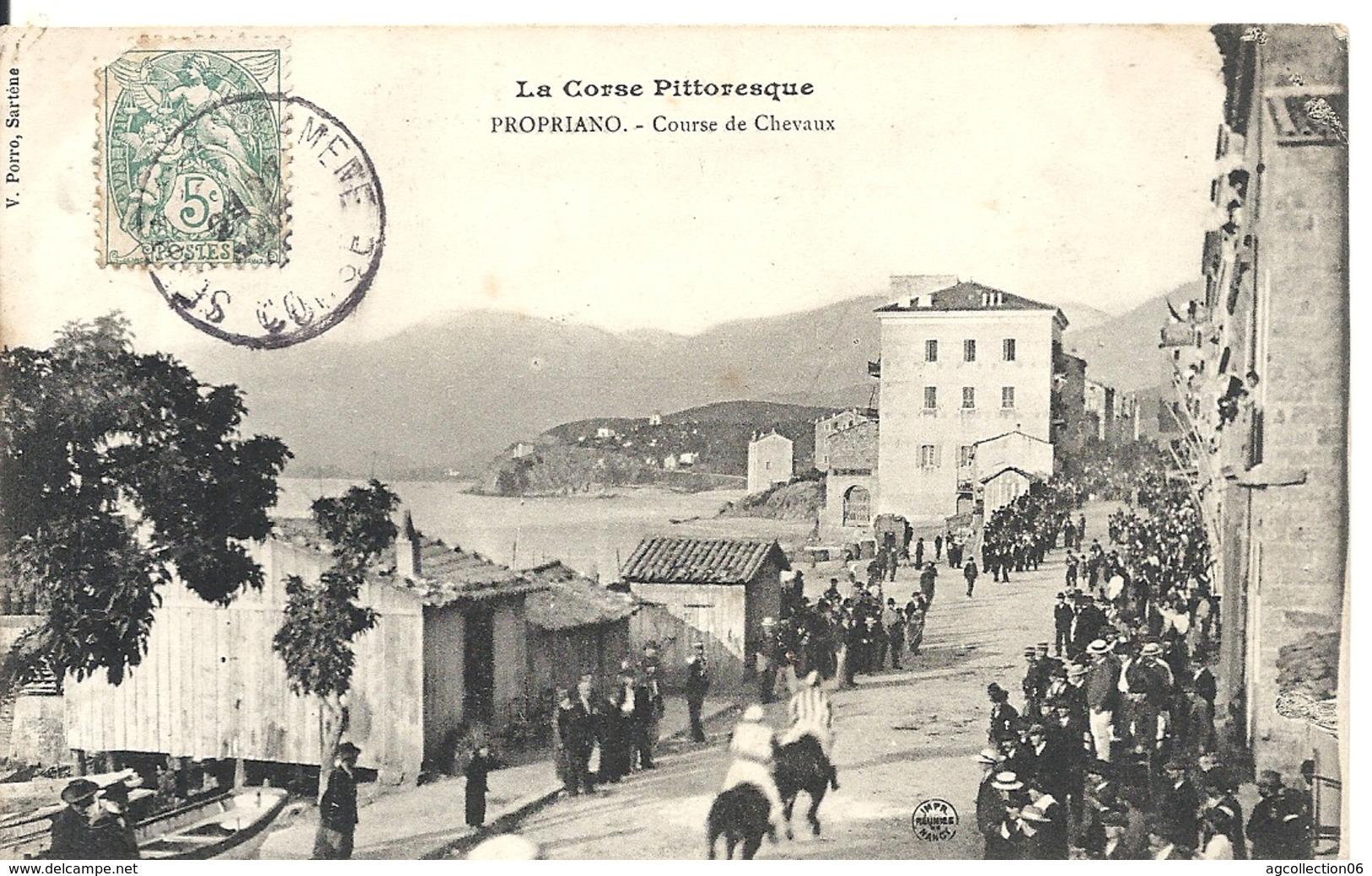 PROPRIANO. COURSE DE CHEVAUX - France