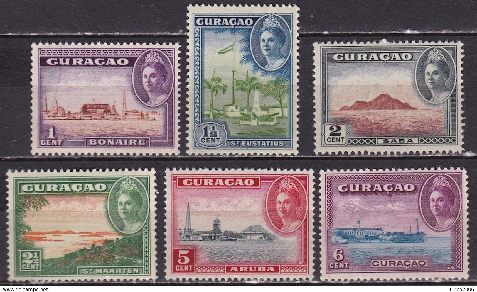 Curacao 1943 Eilanden Complete Postfrisse Serie NVPH 158 / 163 - Curaçao, Nederlandse Antillen, Aruba