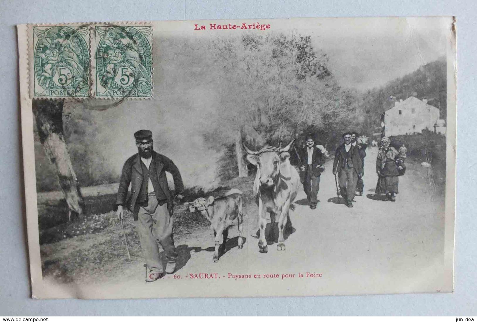 SAURAT - PAYSANS EN ROUTE POUR LA FOIRE  - LA HAUTE ARIEGE - C S 60 - France