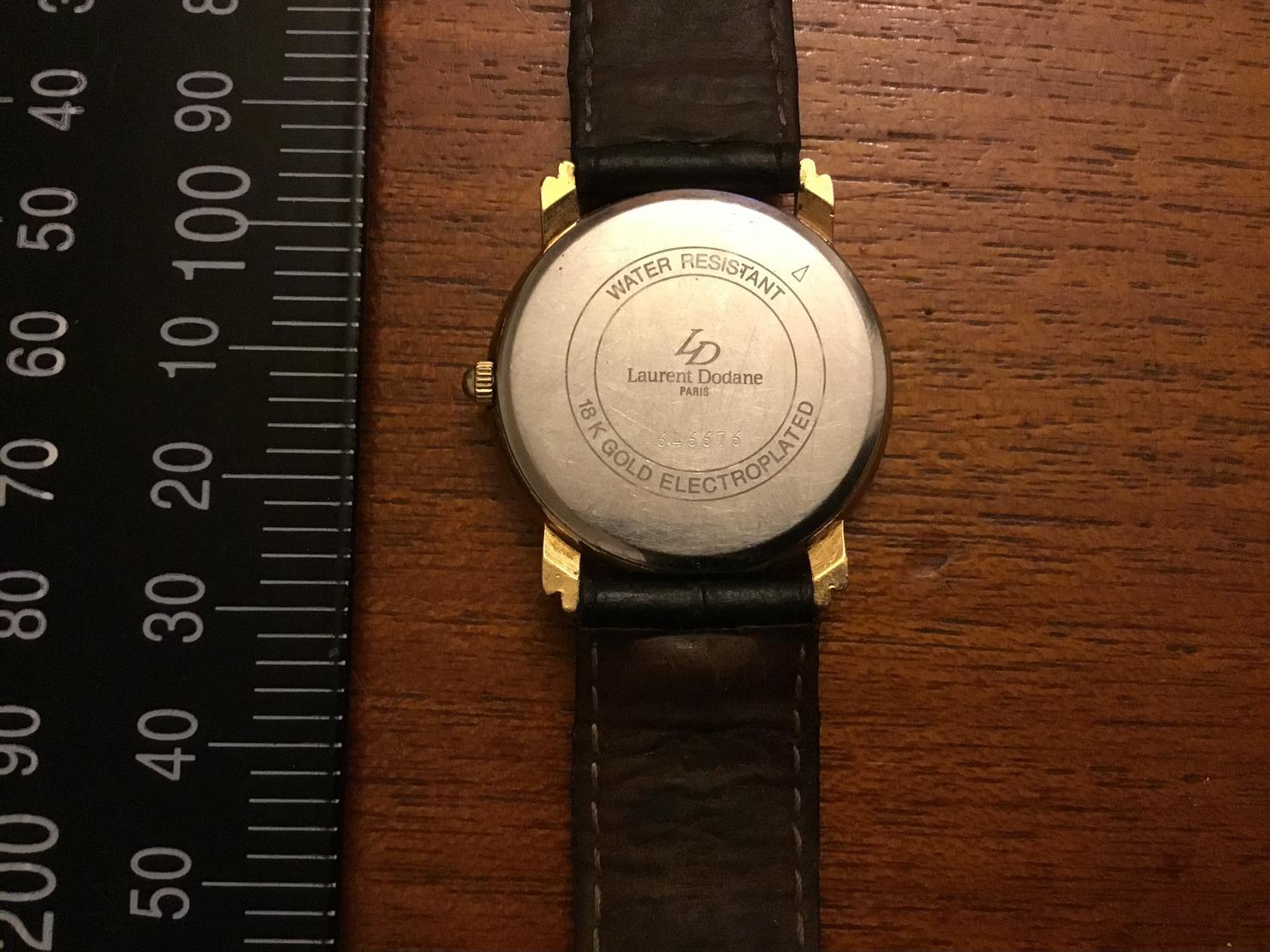 Montre Laurent Dodane Avec Lune 18k Gold Electroplates - Montres Modernes