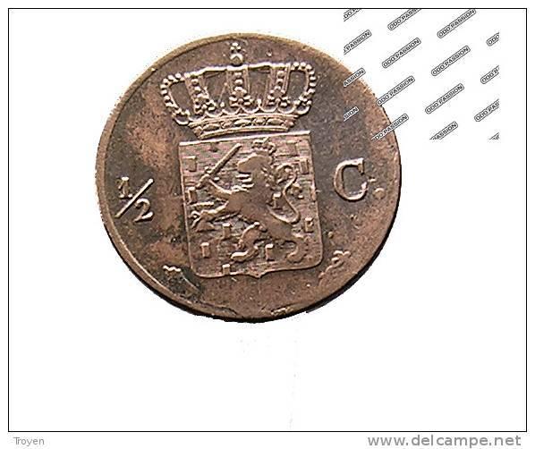 1/2 Cent - Kindom Of The Netherland - 1823 - Cuivre - TB+ - 1815-1840 : Willem I