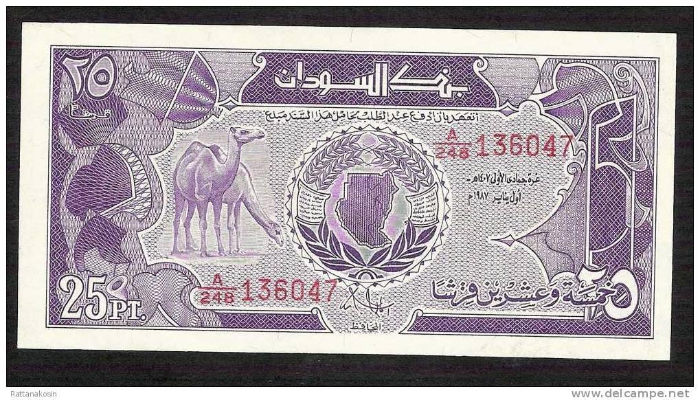SOUDAN SUDAN  P37   25  PIASTRES     1987    UNC.   UNC. - Soudan